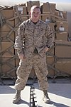 U.S. Marine Corps Cpl. James Register, assigned to Combat Logistics Regiment 2, Regional Command (Southwest), poses for a photo Oct. 3, 2013, at Camp Leatherneck, Afghanistan 131003-M-ZB219-997.jpg