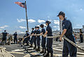 U.S. Sailors aboard the guided missile destroyer USS Gravely (DDG 107) handle mooring lines as the ship arrives in Haifa, Israel, Aug. 8, 2013 130808-N-KA046-116.jpg