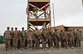 U.S. Soldiers with the 2nd Brigade Combat Team, 10th Mountain Division stand in formation after receiving combat action badges during an award ceremony at Forward Operating Base Sharana in Paktika province 130407-A-ZZ999-030.jpg