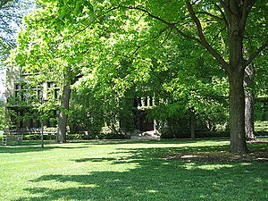History of the University of Chicago - Ryerson Physical Laboratory, located on the Main Quadrangles.