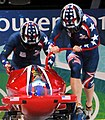 USA-1 in heat 3 of 2 woman bobsleigh at 2010 Winter Olympics 2010-02-24 1.jpg