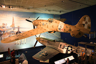 National Air and Space Museum - Macchi C.202 and P-51D Mustang