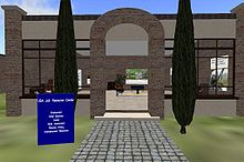 A Screen capture of the USA Jobs Resource Center in second life