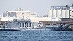 USAV Perryville (LCU 2034) & Port Hudson (LCU 2035) right front view at Port of Yokohama April 28, 2018 02.jpg