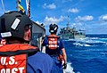 USCG sailors look at the RKS Teanoai, during a joint exercise.jpg