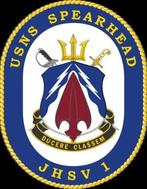 USNS Spearhead (T-EPF-1) - Image: USNS Spearhead JHSV 1 Crest