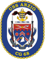 The ship's crest of the USS Anzio.