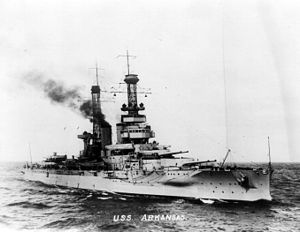 USS Arkansas (BB-33) - Arkansas underway in 1920