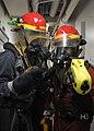 USS Blue Ridge conducts a general quarters drill. (9137288674).jpg