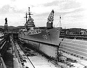 USS Bremerton (CA-130) drydocked