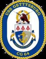 USS Gettyburg CG-64 Crest