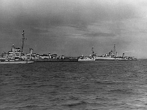 USS Glennon (DD-620) and USS Rich (DE-695) mined off Normandy, 8 June 1944.