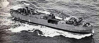 Seatrain Lines - Seatrain New York as USS Kitty Hawk (AKV-1).