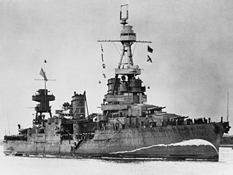 Bow wave - Image: USS Northampton (CA 26) at Brisbane on 5 August 1941 (NH 94596)