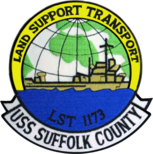USS Suffolk County LST 1173 Patch.png