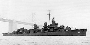 USS Taylor (DD-468) in San Francisco Bay, California (USA), on 26 January 1944 (80-G-1038542)