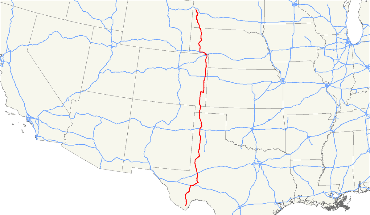 US Route Wikipedia - Us highway speed limits map