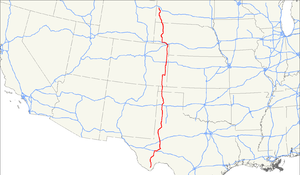 U.S. Route 385 - Image: US 385 map