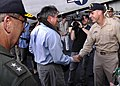 US Navy 050115-N-4166B-018 Deputy Secretary of Defense Paul Wolfowitz visits USS Abraham Lincoln.jpg
