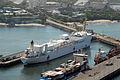US Navy 070730-N-8704K-053 Hospital ship USNS Comfort (T-AH 20) is moored in Acajutla, El Salvador, during a scheduled port visit.jpg