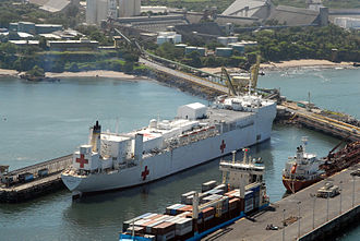 Acajutla - Image: US Navy 070730 N 8704K 053 Hospital ship USNS Comfort (T AH 20) is moored in Acajutla, El Salvador, during a scheduled port visit