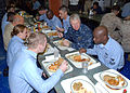 US Navy 081219-N-0803S-012 Chief of Naval Operations (CNO) Gary Roughead has lunch with Sailors.jpg