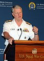 US Navy 090616-N-9852I-107 Chief of Naval Operations (CNO) Adm. Gary Roughead delivers a keynote speech at the U.S. Naval War College 60th annual Current Strategy Forum.jpg