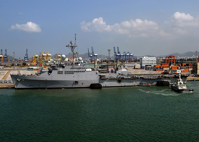 File:US Navy 100215-N-6692A-043 USS Denver (LPD 9) pulls into Laem Chabang for a scheduled port visit after completing Cobra Gold 2010.jpg