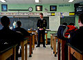US Navy 100422-N-5928K-014 Cmdr. Michael R. Yohnke speaks with Navy Junior ROTC students at Christiana High School during a school visit.jpg