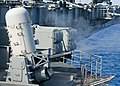 US Navy 100629-N-0754Y-012 The aircraft carrier USS George Washington (CVN 73) conducts a live-fire exercise of its Phalanx Close-In Weapons System (CIWS).jpg