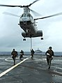 US Navy 111004-N-MW330-253 Marines assigned to the maritime raid force of the 31st Marine Expeditionary Unit (31st MEU) fast-rope.jpg