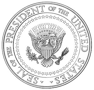 Seal of the President of the United States - Illustration from the 1960 executive order