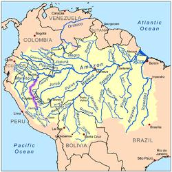 אגן הניקוז של נהר אוקיאלי, במערכת הניקוז הכללית של האמזונאס
