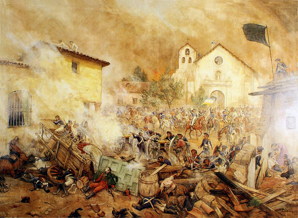 Picture of the siege of Rancagua during the Chilean War of Independence Ultimos Momentos en Rancagua.jpg