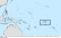 Map of the change to the United States in the Pacific Ocean on August 4, 1965