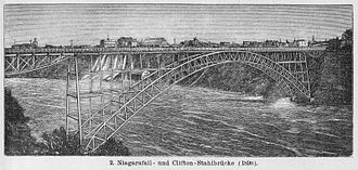 Honeymoon Bridge (Ontario) - The Upper Steel Arch Bridge at Niagara Falls