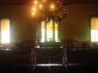 Hempstead County, Arkansas - The upper floor courtroom in the former Hempstead County Courthouse in Washington, Arkansas