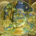 Urbino, francesco xanto avelli, piatto con diana e atteone e stemma, 1530 ca..JPG