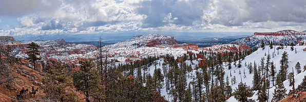 Bryce Canynon National Park, Utah, USA. Panoramic view at the entrance of the park.