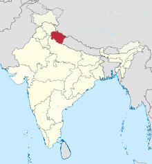 Uttarakhand in India (disputed hatched).svg