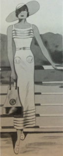 VERA BOREA - White Beach Dress - 1934 July.png