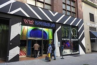 Amusement arcade - Facade of VR arcade in Manhattan