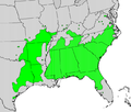 Vaccinium arboreum map.png