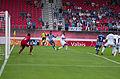Valais Cup 2013 - OM-FC Porto 13-07-2013 - Brice Samba, Kelvin et Rafidine Abdullah.jpg