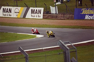 Jeremy McWilliams - Jeremy McWilliams, battling with Valentino Rossi at the 2000 British Grand Prix