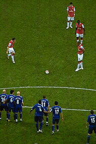Henry was the first-choice free kick taker for Arsenal.