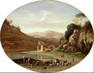 Valley with Ruins and Figure