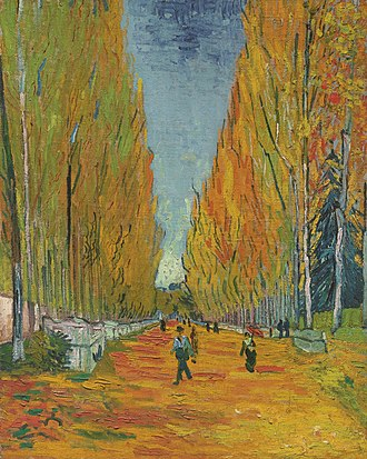 Les Alyscamps - Image: Van gogh lallee des alyscamps