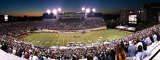 Vanderbilt Stadium - Stadium panoramic during a Vanderbilt football game in the 2010 season.