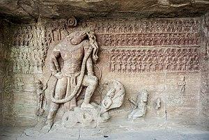 Udayagiri Caves - Udayagiri, Cave 5, Viṣṇu as the Varāha Avatar, general view